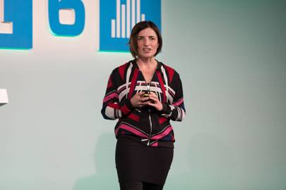 Di Mainstone, creator of the Human Harp at WIRED2016