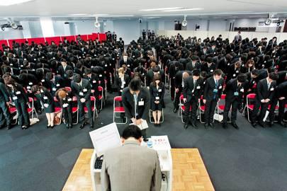 Rakuten's April 2012 welcome ceremony for 305 new graduates