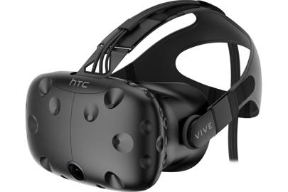 The Vive headset is a bit heavier than we'd like, but ultimately offers a great VR experience.