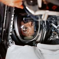 Alan Shepard in the capsule of Freedom 7