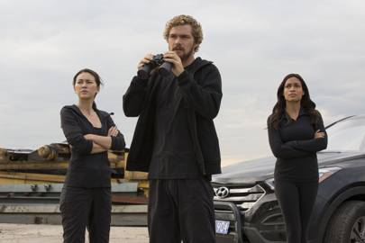 Colleen Wing (Jessica Henwick), Danny Rand, and recurring Marvel supporting character Claire Temple (Rosario Dawson) are the core trio of Iron Fist