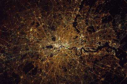 Tim Peake: London from space