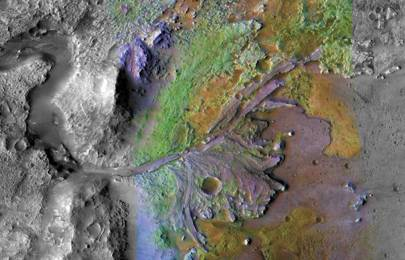 Cropped - Mars' Jezero Crater delta