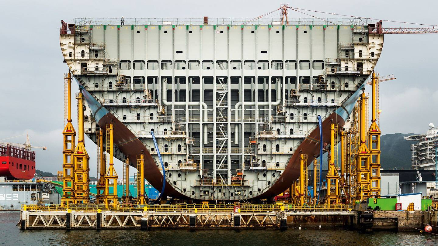 In pictures: building the world's largest container ship by @WiredUK