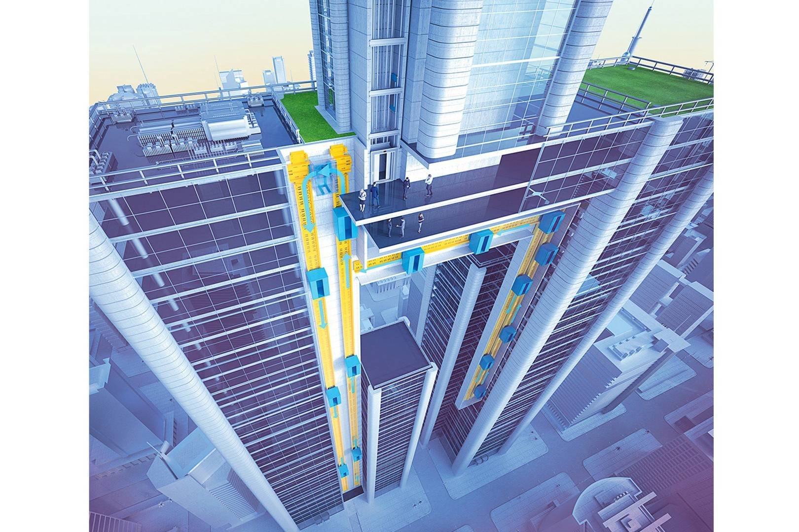 1620 thyssenkrup's new lifts navigate buildings as they go up and down  at n-0.co