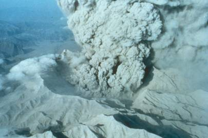 The caldera of Mount Pinatubo on June 22, 1991