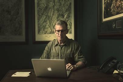 McChrystal at his Washington HQ desk