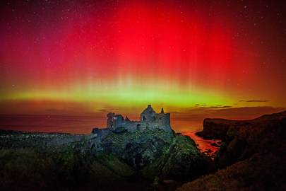 Storm Force Aurora at Dunluce Castle