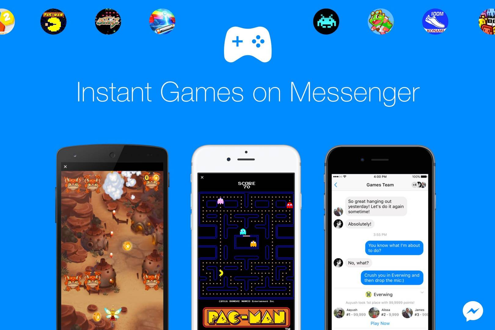 Play Pac Man And Space Invaders On Facebook Messenger Wired Uk