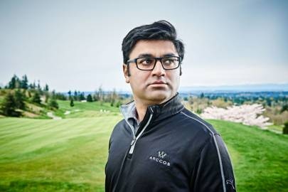 Sal Syed, CEO and co-founder of Arccos Golf, which is behind the virtual caddie