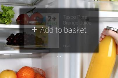 Tesco Grocery Glass app in action
