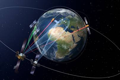 The European Data Relay System (EDRS) is designed to transmit data between low earth orbiting satellites and the EDRS payloads in geostationary orbit using innovative laser communication technology.