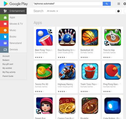 Google Play Store apps using the Alphonso ad listening software