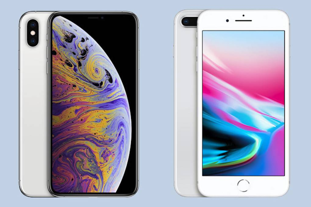 screen size iphone xs max vs iphone 8 plus