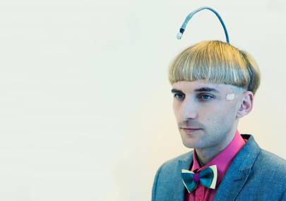 Born with a severe form of colour blindness, Neil Harbisson had an antenna surgically implanted in his skull which allows him to hear colours.  For example, blue sounds like the musical note middle C.