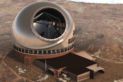 An artist imaging of the Thirty Meter Telescope