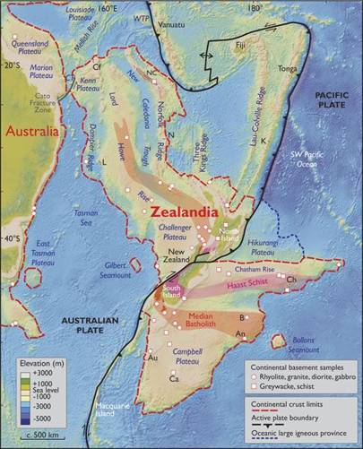 In what continent is New Zealand?