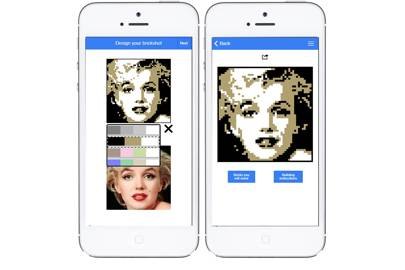 Brickshot app lets you turn your favourite portraits into Andy Warhol-esque works of Lego art
