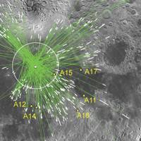 Site of impact on the moon