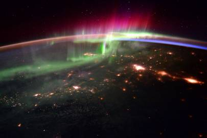 Tim Peake: Earth's aurora