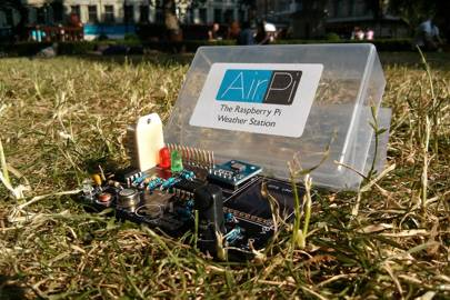 The AirPi weather and pollution monitoring station