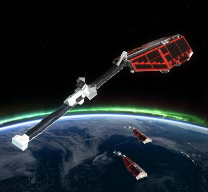 Swarm is ESA's first constellation of Earth observation satellites designed to measure the magnetic signals from Earth