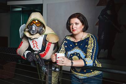Natasha Tatarchuk (and friend). She supervises character and surface renders in Destiny